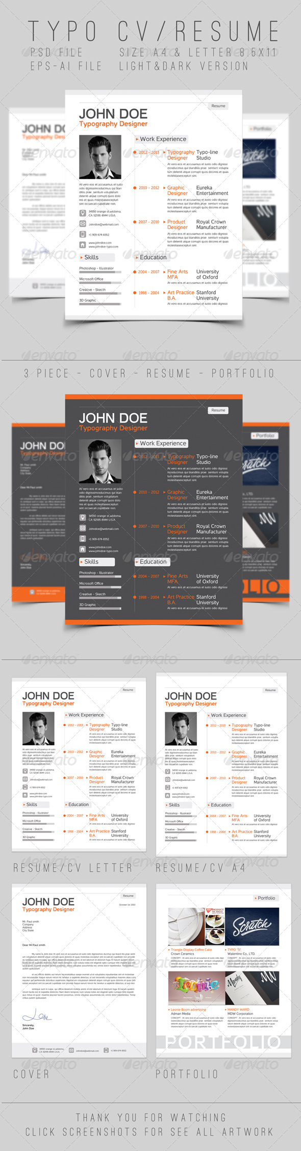 Typo Resume - Resumes Stationery