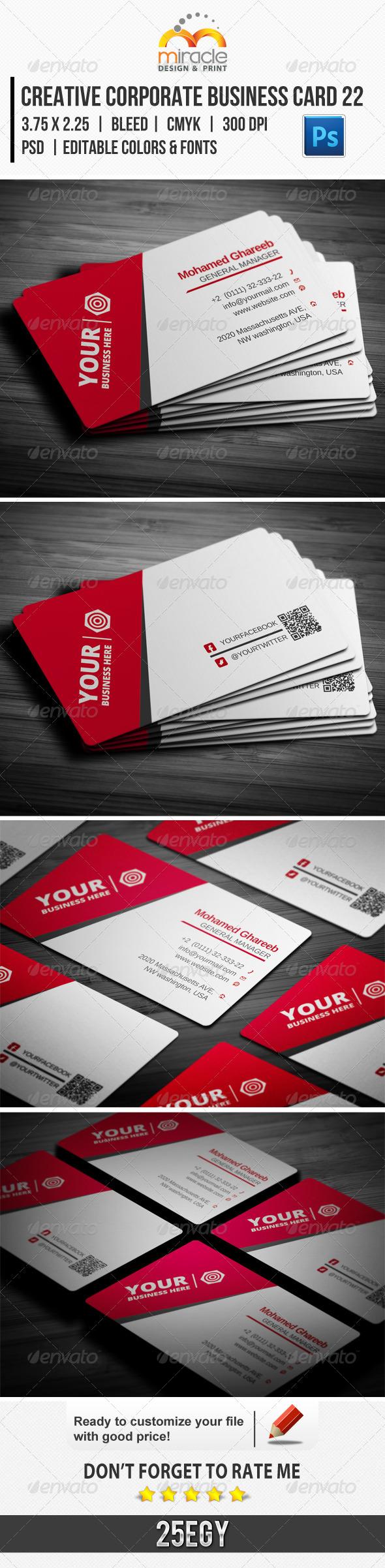 Creative Corporate Business Card 22 - Corporate Business Cards