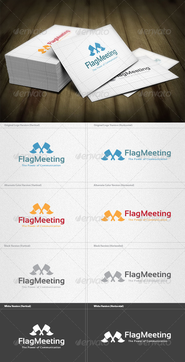 Flag Meeting Logo - Crests Logo Templates