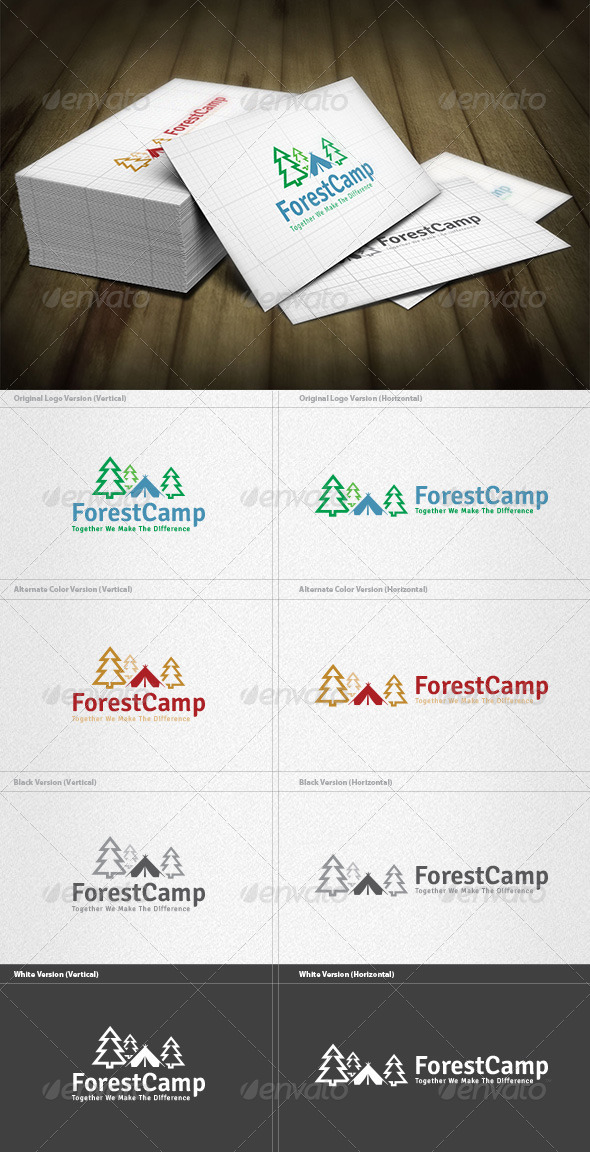 Forest Camp Logo - Nature Logo Templates