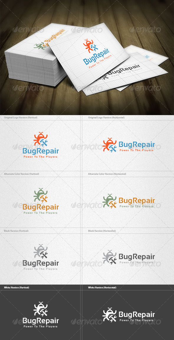 Bug Repair Logo - Symbols Logo Templates