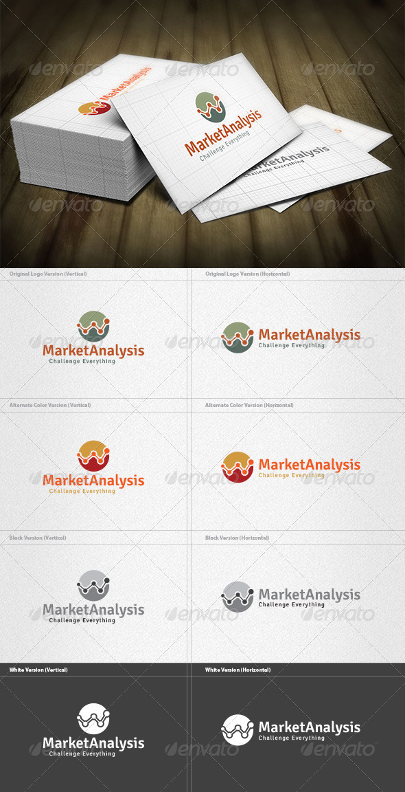 Market Analysis Logo - Vector Abstract