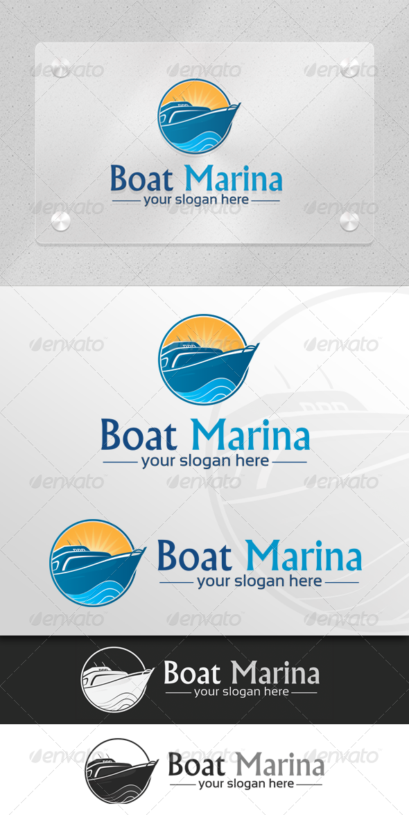 Boat Marina - Marine & Transport Logo - Objects Logo Templates