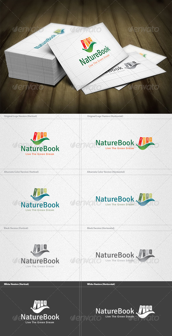Nature Book Logo - Nature Logo Templates