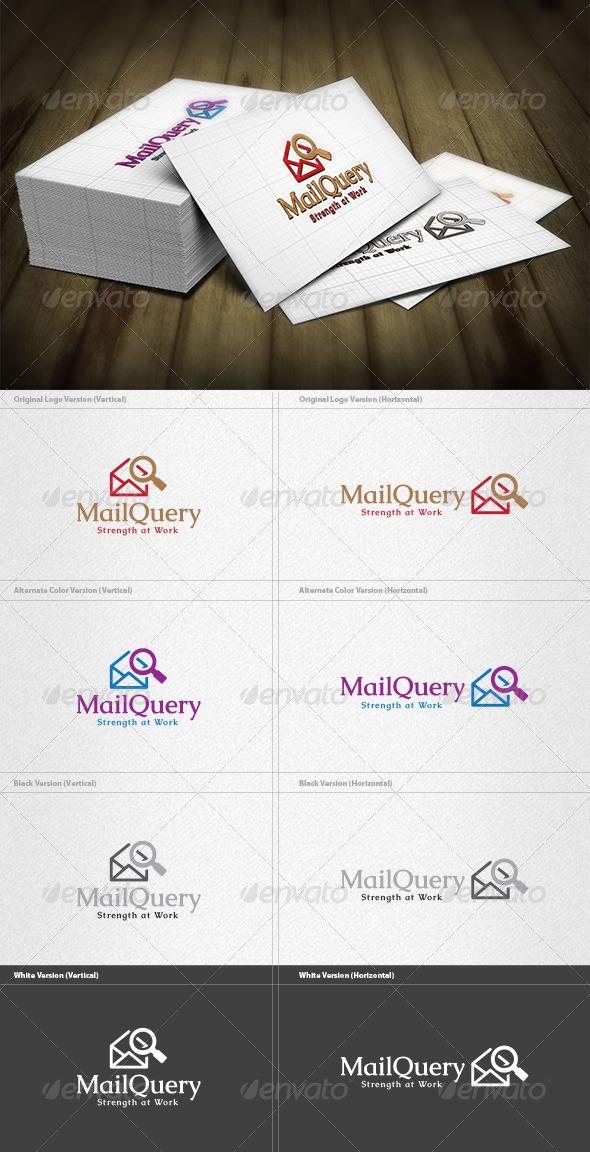 Mail Query Logo - Symbols Logo Templates
