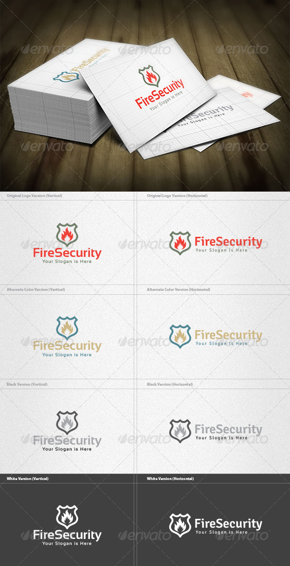 Fire Security Logo - Symbols Logo Templates