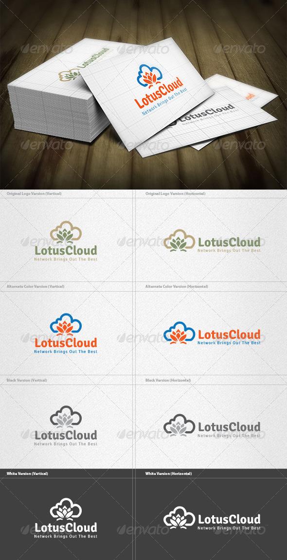 Lotus Cloud Logo - Symbols Logo Templates