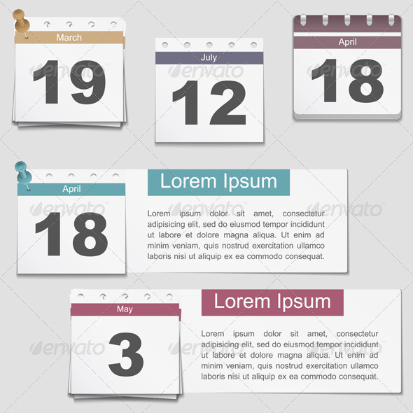 Calendar Pages - Objects Vectors
