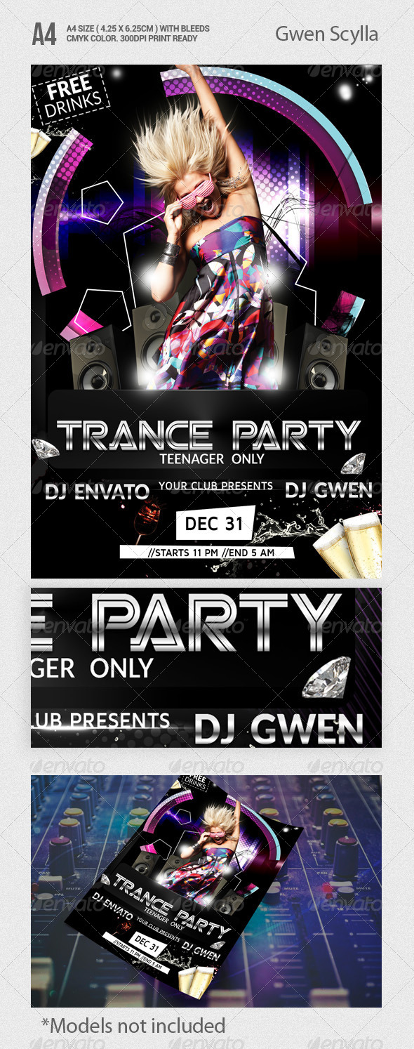 Trance Party Flyer Template - Events Flyers