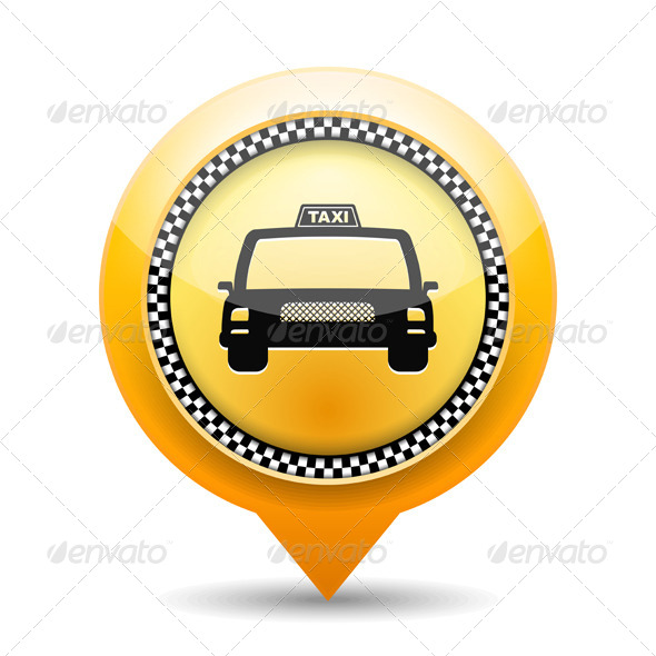 Taxi Icon - Travel Conceptual