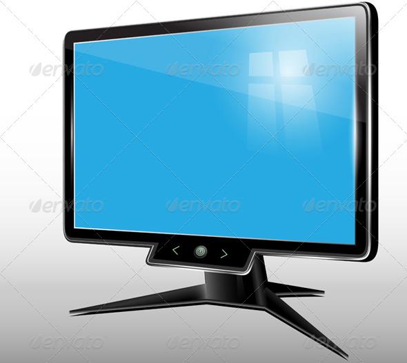 Monitor, Computer Display - Vectors