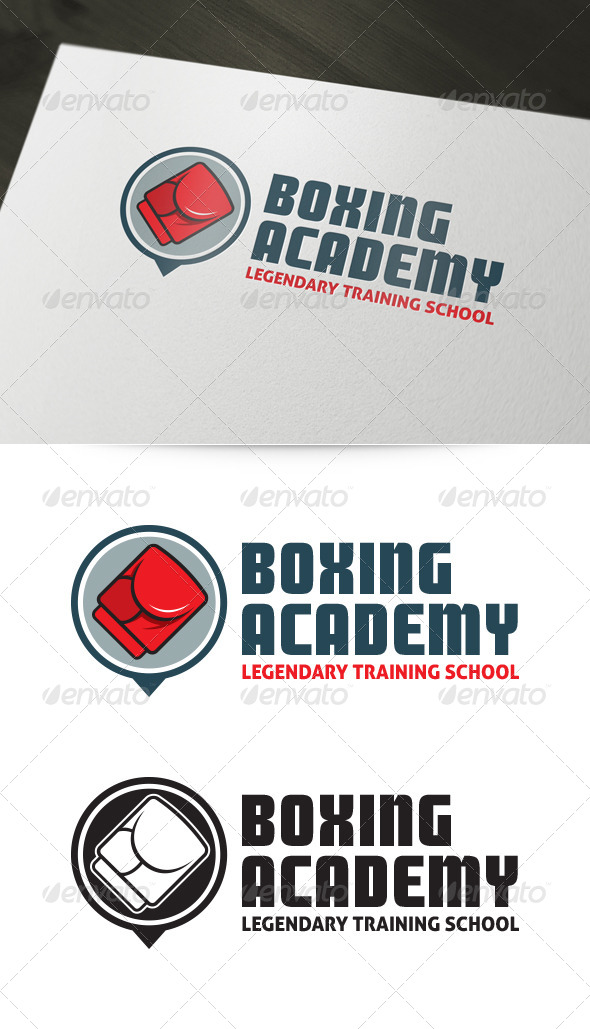 Boxing Academy Logo - Objects Logo Templates