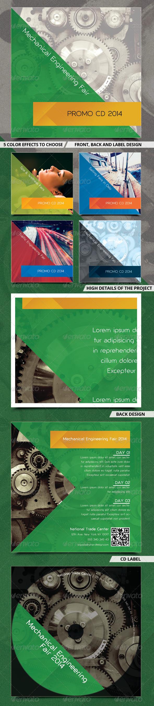 Fair / Exposition / Trade CD Cover - CD & DVD Artwork Print Templates