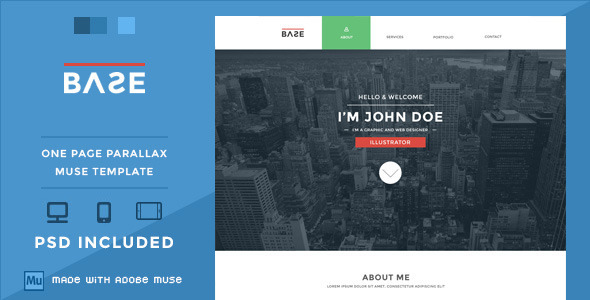 Base - One Page Parallax Muse Theme