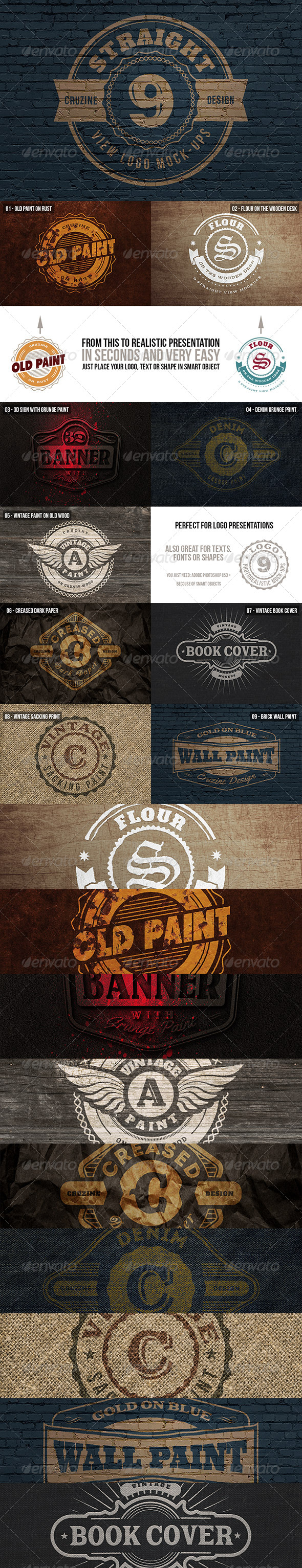 Straight View Logo Mock-ups - Logo Product Mock-Ups