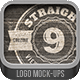 Straight View Logo Mock-ups - GraphicRiver Item for Sale