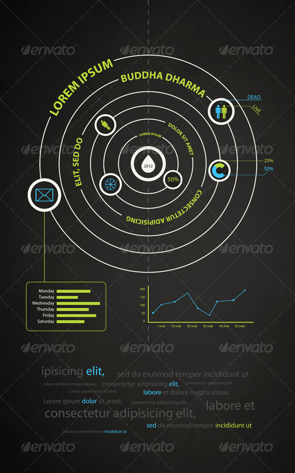 Infographics abstract presentation of business  - Concepts Business