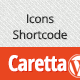 Caretta Icons Shortcode