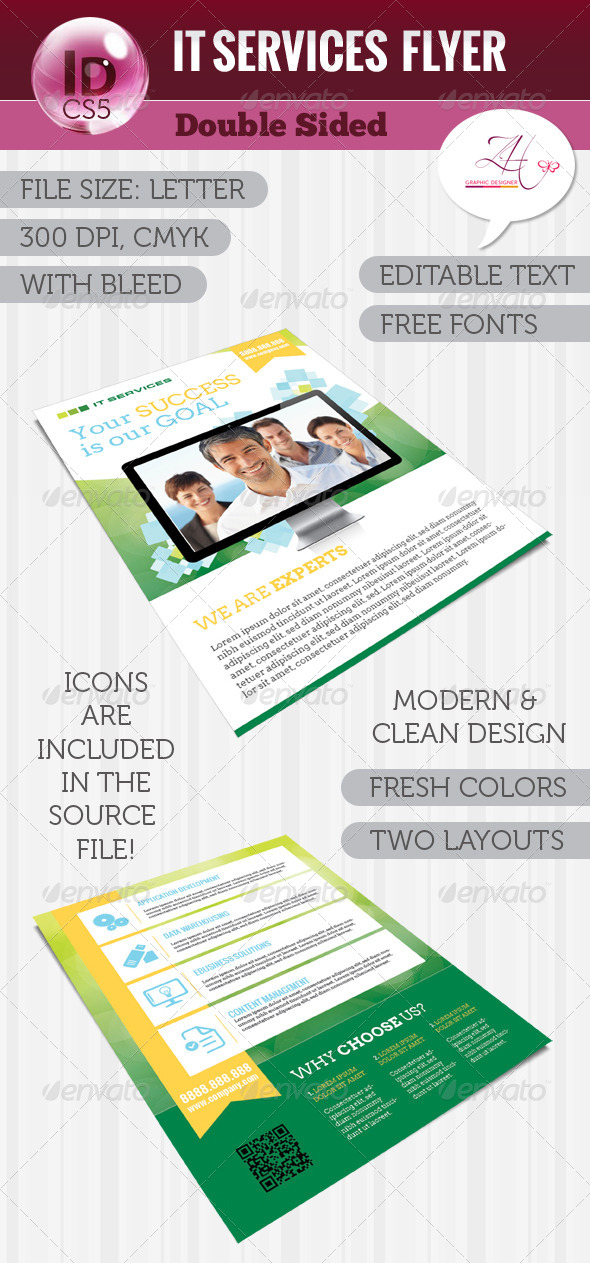 IT Services Flyer (Double Sided) - Flyers Print Templates