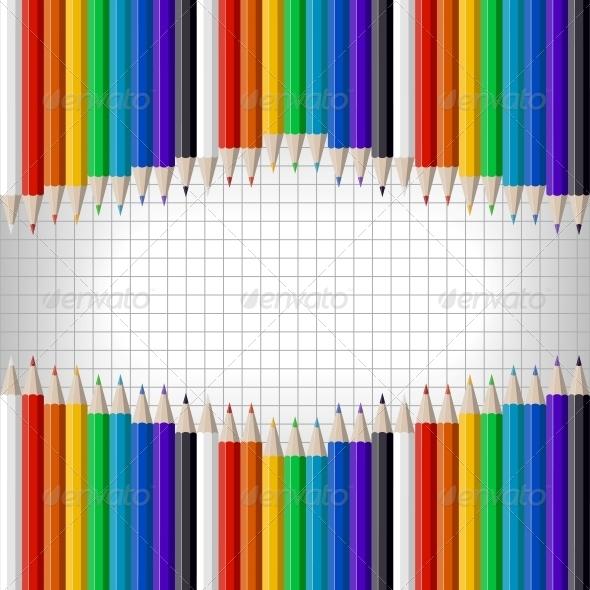 Colored Pencils - Backgrounds Decorative