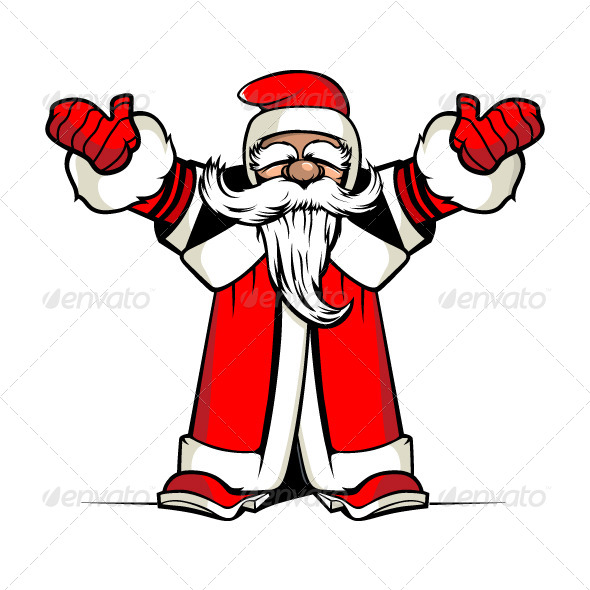 Santa Hands Up - New Year Seasons/Holidays