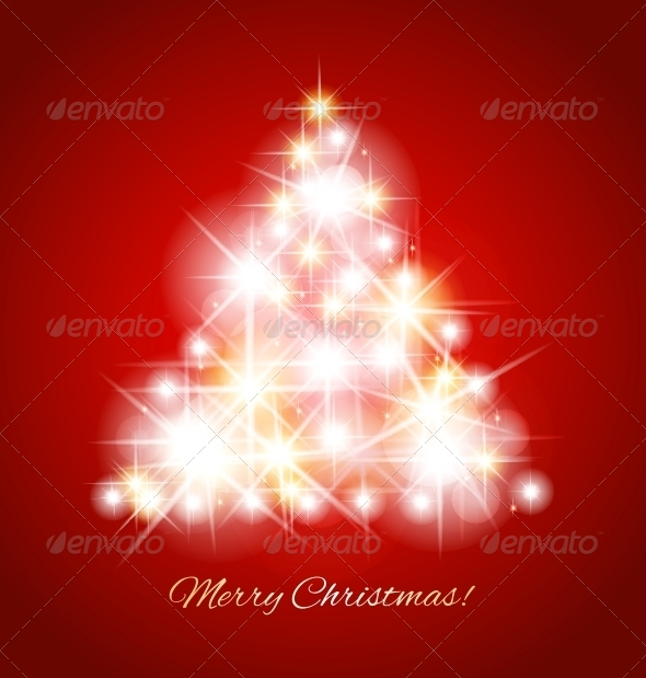 Merry Christmas Vector Card - Christmas Seasons/Holidays