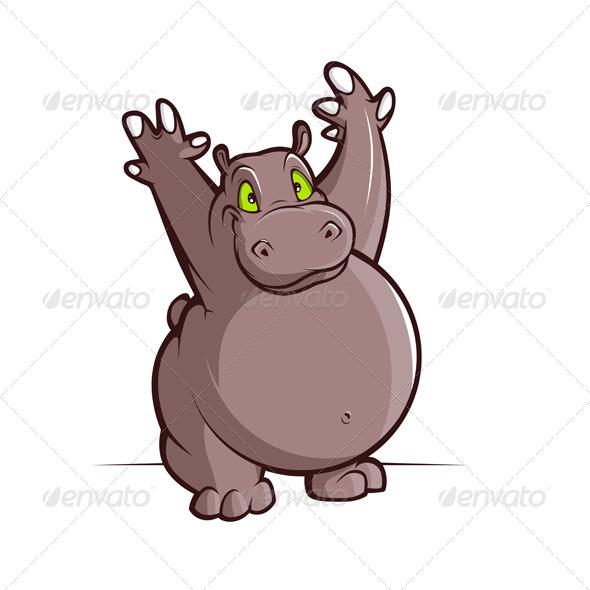 Cartoon Hippo - Animals Characters