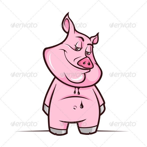 Cartoon Piggy - Animals Characters
