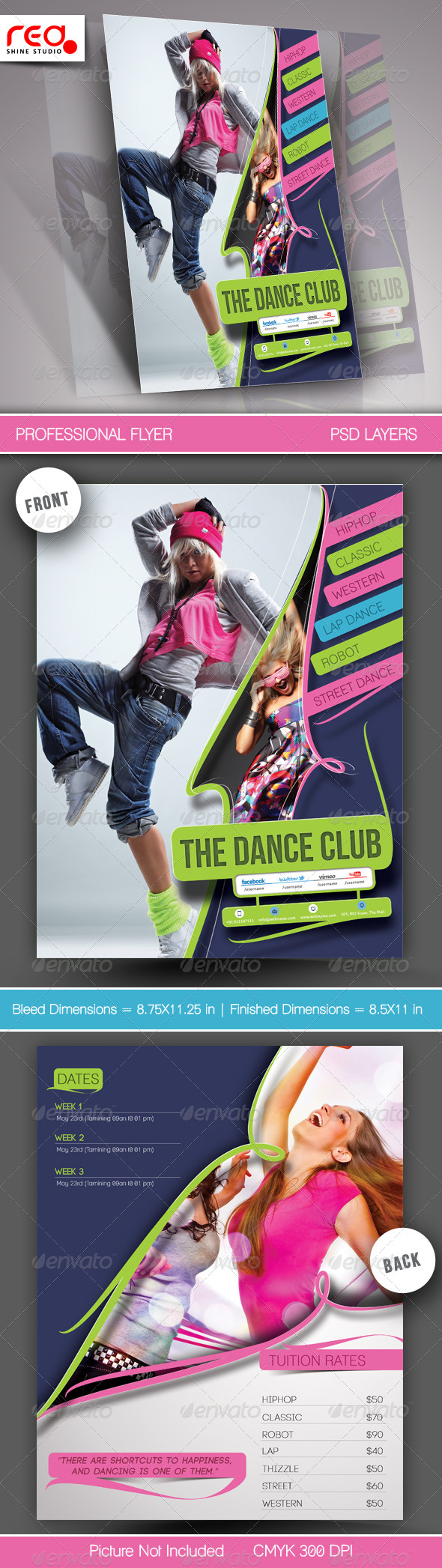 Dance Academy Flyer & Poster Template - 2  - Commerce Flyers