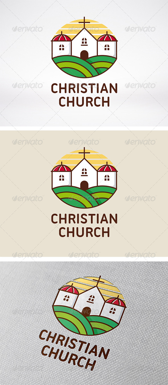 Christian Church Logo - Buildings Logo Templates
