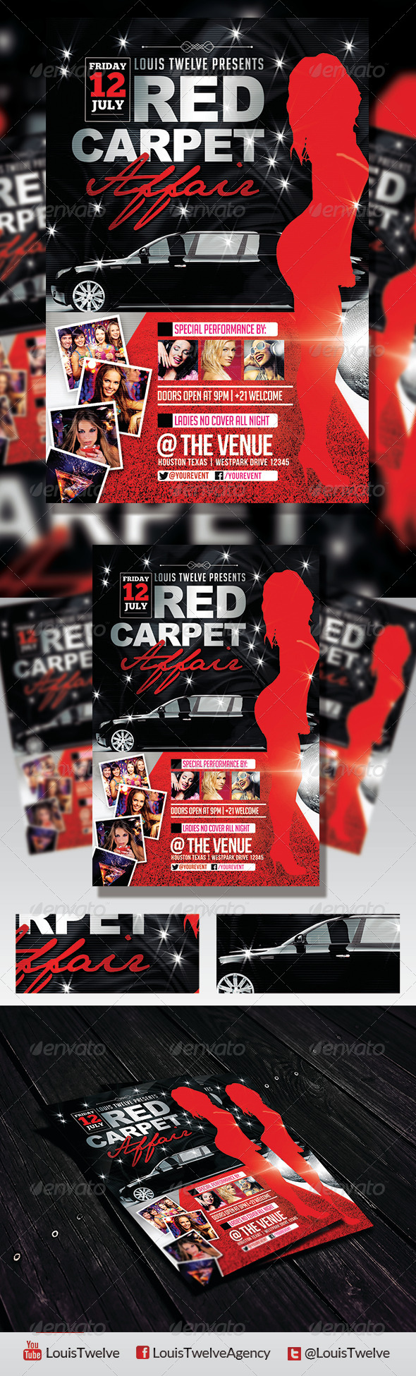 Red Carpet Affair 3 | Flyer Template - Clubs & Parties Events
