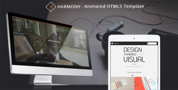 Harmony – Animated One-Page HTML 5 Template