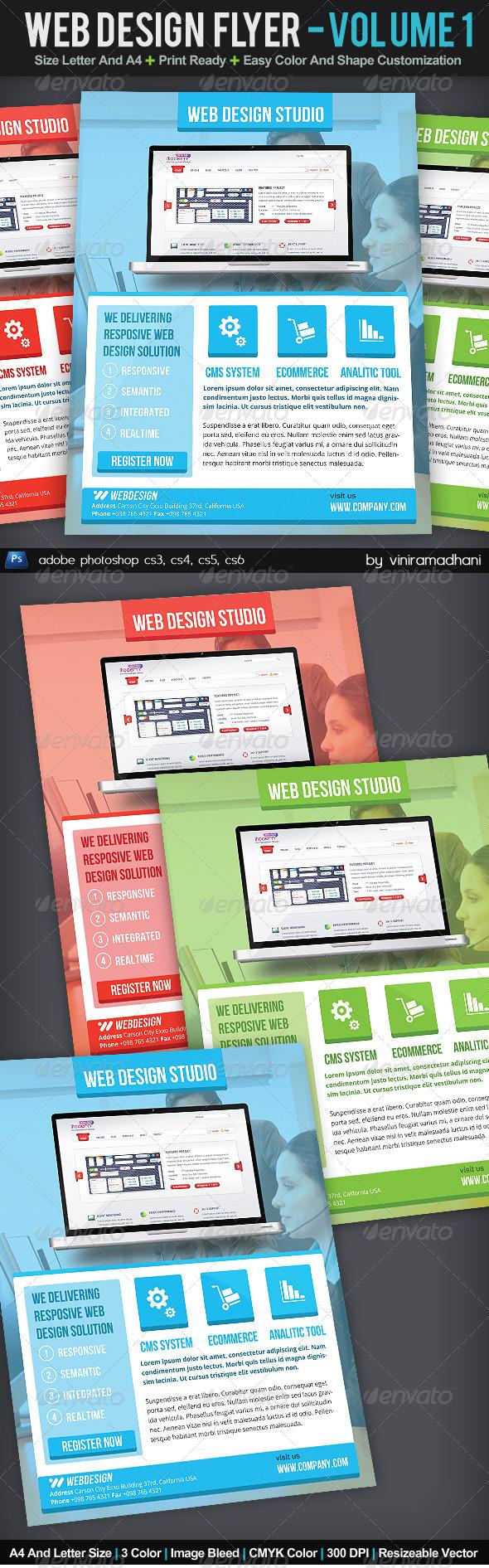 Web Design Flyer | Volume 1 - Corporate Flyers