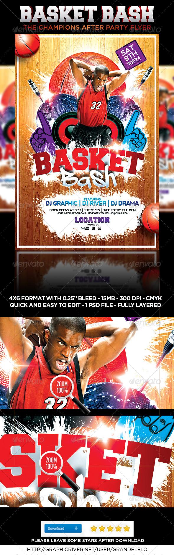 Basketball Bash Flyer - Sports Events