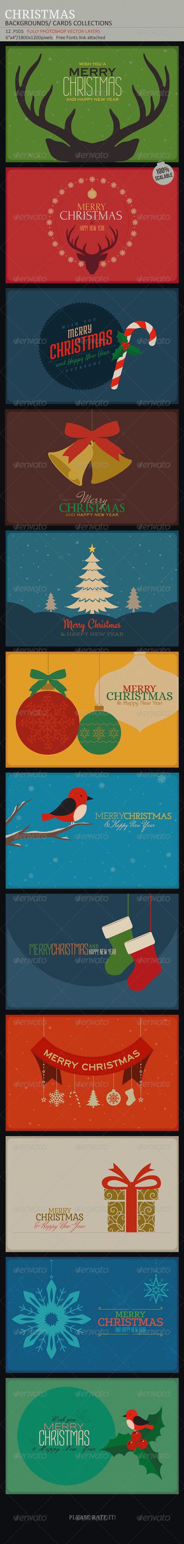 Christmas Backgrounds-Cards Collection