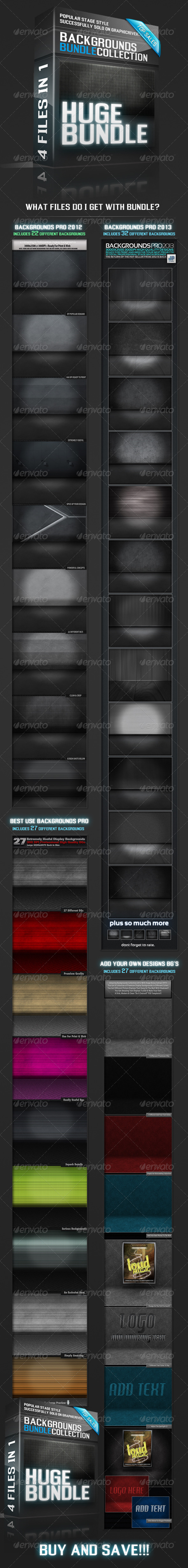 Mock Up Style Backgrounds Bundle - Backgrounds Graphics