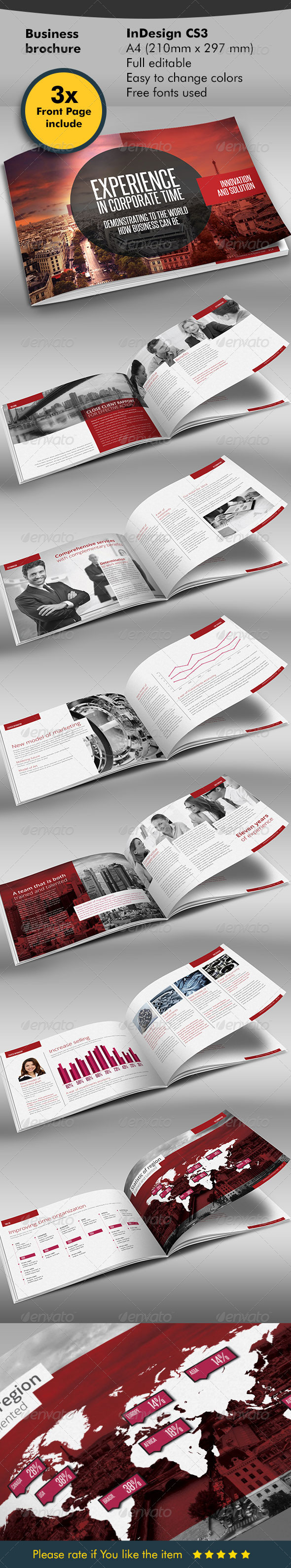 Red Black Design Brochure - Corporate Brochures