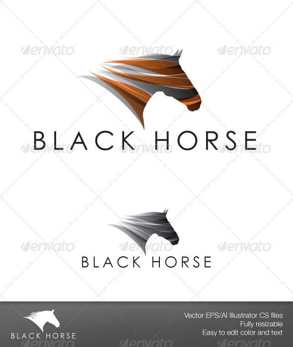 Black Horse - Animals Logo Templates