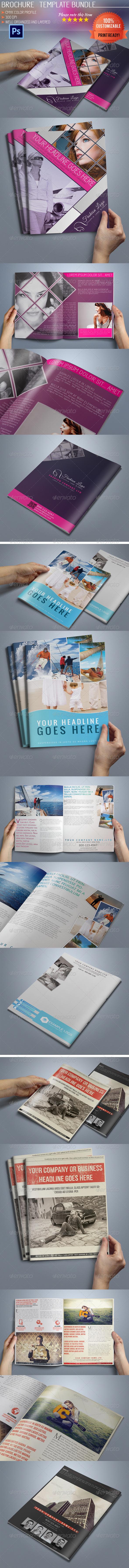 Bi-Fold Business Brochure Bundle - Corporate Brochures