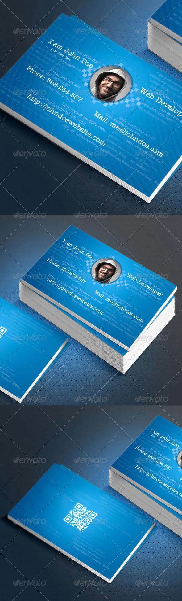 Web Developer Coder FreelancerBusiness Card Design - Industry Specific Business Cards