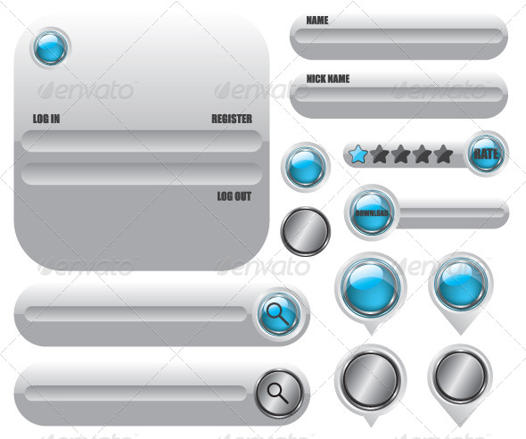 Web Elements Icon Set - Web Technology