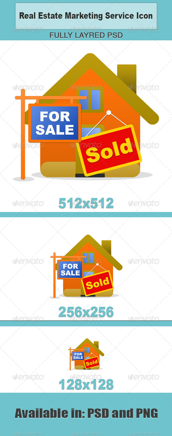 Real Estate Marketing Service Icon - Business Icons