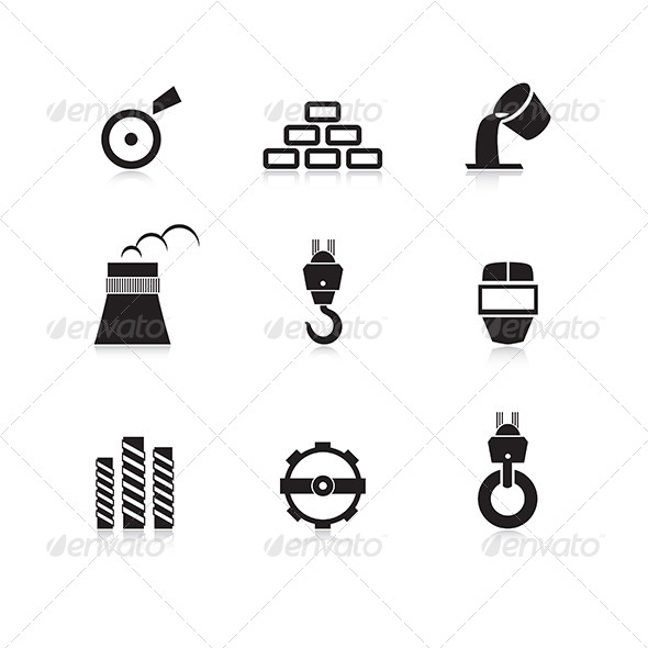 Metal Industry Icon Set - Industries Business