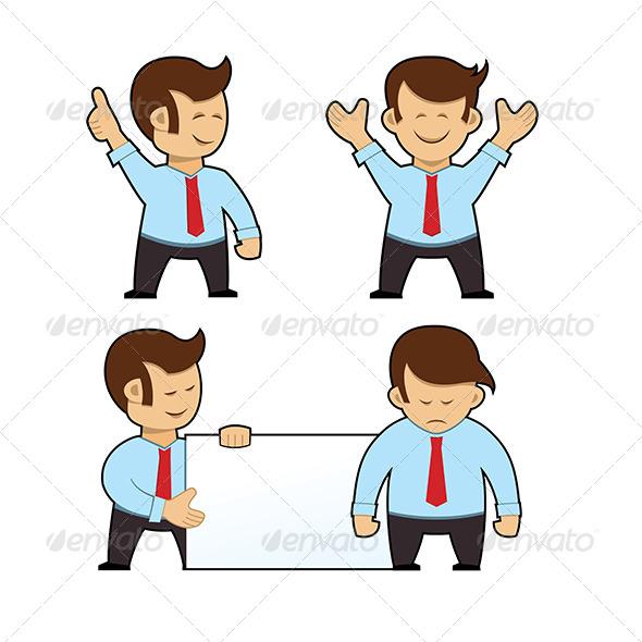 Cartoon Businessman Set - People Characters