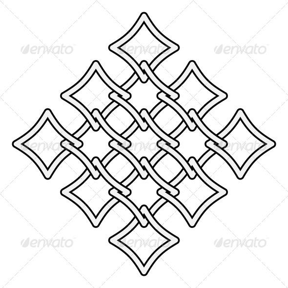 Fences Pattern Celtic Style - Backgrounds Decorative