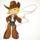 Blond Cowgirl with Lasso - GraphicRiver Item for Sale