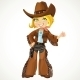 Cowgirl with Colt - GraphicRiver Item for Sale