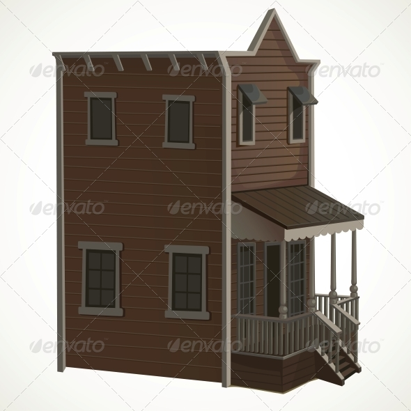 Wooden House in the Wild West - Buildings Objects