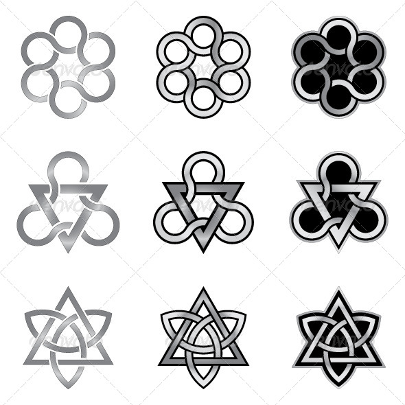 Celtic Knots Models and Patterns - Decorative Symbols Decorative
