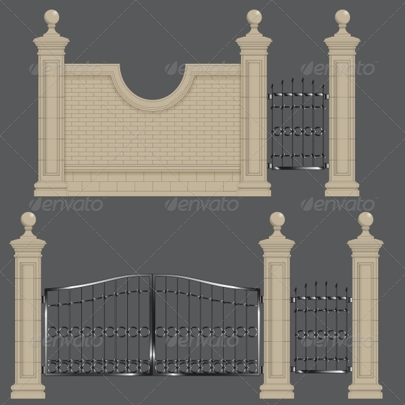 Garden Gate - Buildings Objects